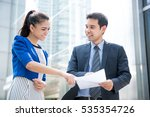 business people discussing... | Shutterstock . vector #535354726