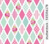 cute seamless vintage pattern... | Shutterstock .eps vector #535356178