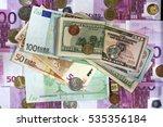 Dollar And Euro. Dollars...