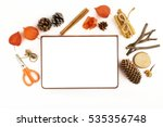 white sheet on the white... | Shutterstock . vector #535356748