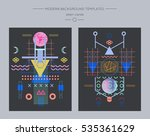 collection of space and alien... | Shutterstock .eps vector #535361629