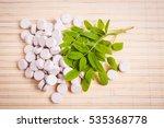 medicine herb. herbal pills... | Shutterstock . vector #535368778