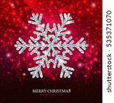 christmas banner with glowing... | Shutterstock .eps vector #535371070