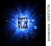 happy new year card. blue... | Shutterstock .eps vector #535371778