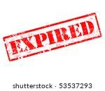 grunge expired stamp | Shutterstock .eps vector #53537293