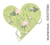 vector floral heart with lily...   Shutterstock .eps vector #535373560