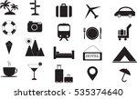 travel  icon set  vector... | Shutterstock .eps vector #535374640