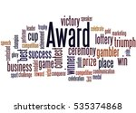 award  word cloud concept on... | Shutterstock . vector #535374868