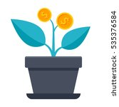successful investment concept... | Shutterstock .eps vector #535376584