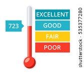 credit score gauge with... | Shutterstock .eps vector #535377280