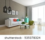 brown room with a sofa. living... | Shutterstock . vector #535378324