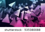 abstract 3d rendering of... | Shutterstock . vector #535380088