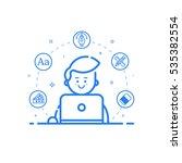 vector illustration of blue... | Shutterstock .eps vector #535382554