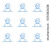 vector illustration of blue... | Shutterstock .eps vector #535382638