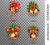 jingle bells  set of christmas... | Shutterstock . vector #535385260