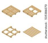 wooden palette  isolated on... | Shutterstock .eps vector #535386070