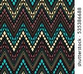 seamless ethnic pattern.... | Shutterstock .eps vector #535386688