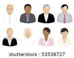 set of business people icons ... | Shutterstock .eps vector #53538727
