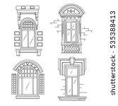 set of retro windows. art...   Shutterstock .eps vector #535388413