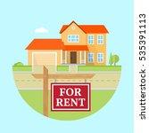 house for rent. vector flat... | Shutterstock .eps vector #535391113