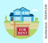 house for rent. vector flat... | Shutterstock .eps vector #535391140