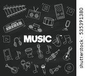cartoon doodles musical... | Shutterstock .eps vector #535391380