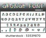vector grunge font   Shutterstock .eps vector #53539870