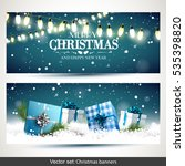 vector set of two christmas... | Shutterstock .eps vector #535398820