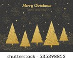 vector merry christmas and... | Shutterstock .eps vector #535398853