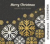 merry christmas and happy new... | Shutterstock .eps vector #535398904