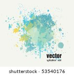 splatter set | Shutterstock .eps vector #53540176