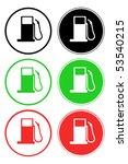 petrol station symbol   eps 10 | Shutterstock .eps vector #53540215