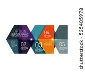 business option diagram... | Shutterstock .eps vector #535405978