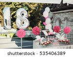 silver balloons in the form of... | Shutterstock . vector #535406389