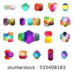set of vector shiny blank boxes ... | Shutterstock .eps vector #535408183