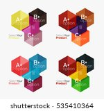 set of business hexagon layouts ... | Shutterstock .eps vector #535410364