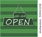 hanging open sign | Shutterstock . vector #535411228