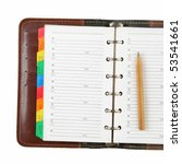 leather personal organizer on... | Shutterstock . vector #53541661