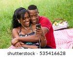 Happy Black Couple Having Fun...