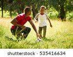 happy black people doing sport...   Shutterstock . vector #535416634