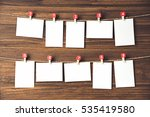 rows of empty photo frames...   Shutterstock . vector #535419580