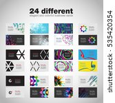 business card set  vector... | Shutterstock .eps vector #535420354