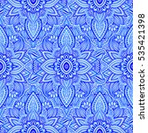 seamless pattern with abstract... | Shutterstock . vector #535421398