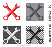wrench. set icons with four...