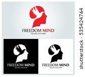 freedom mind logo design... | Shutterstock .eps vector #535424764