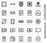 computer components icons | Shutterstock .eps vector #535425280