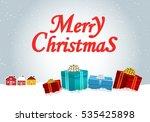 festive winter landscape... | Shutterstock .eps vector #535425898