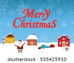 happy new year and merry... | Shutterstock .eps vector #535425910