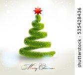 abstract christmas fir tree.  | Shutterstock . vector #535428436