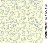 doodle set with men's underwear ... | Shutterstock .eps vector #535429510